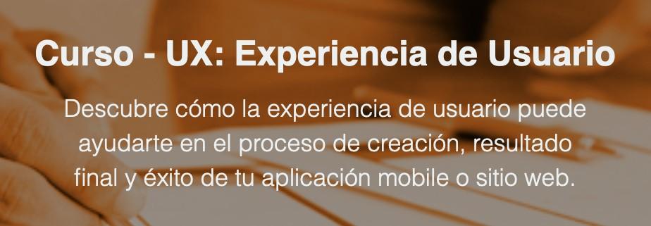 Curso Ux Experiencia Usuario
