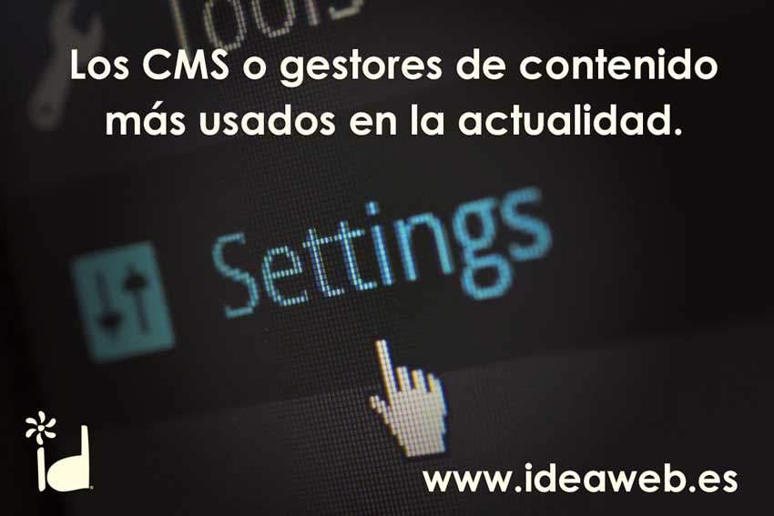 Los CMS más utilizados en la actualidad. Gestores de contenido web de éxito.