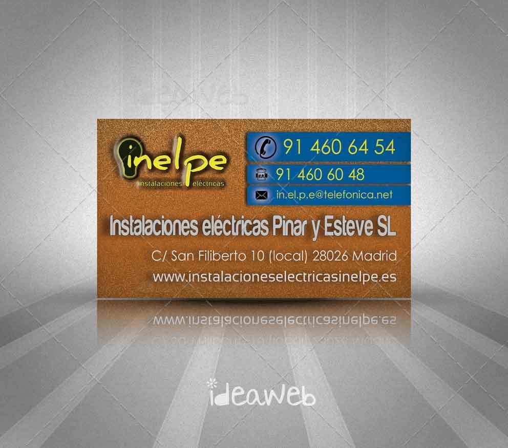 Diseño de tarjetas de visita para instaladores electricistas