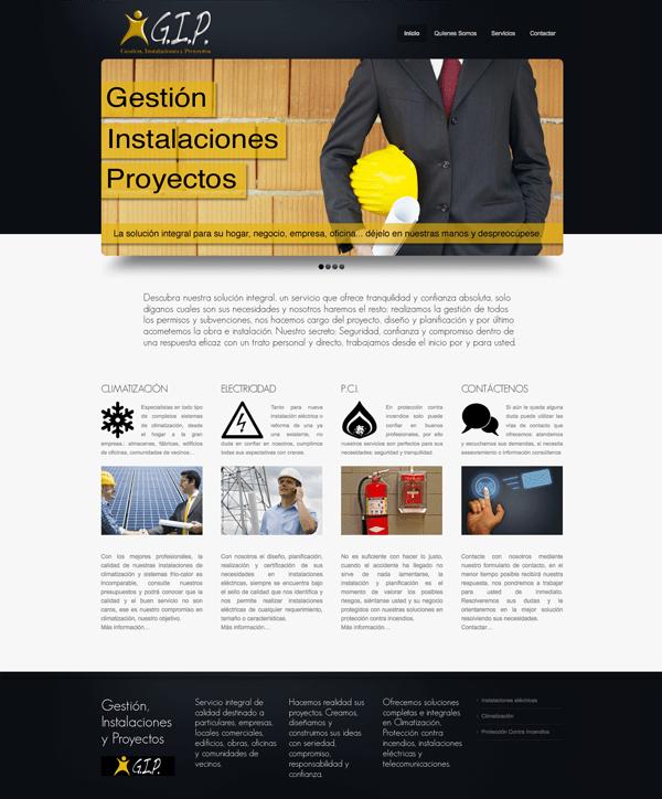 Diseño de página web: Geinpro Madrid