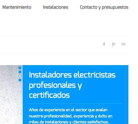 web para electricistas Madrid