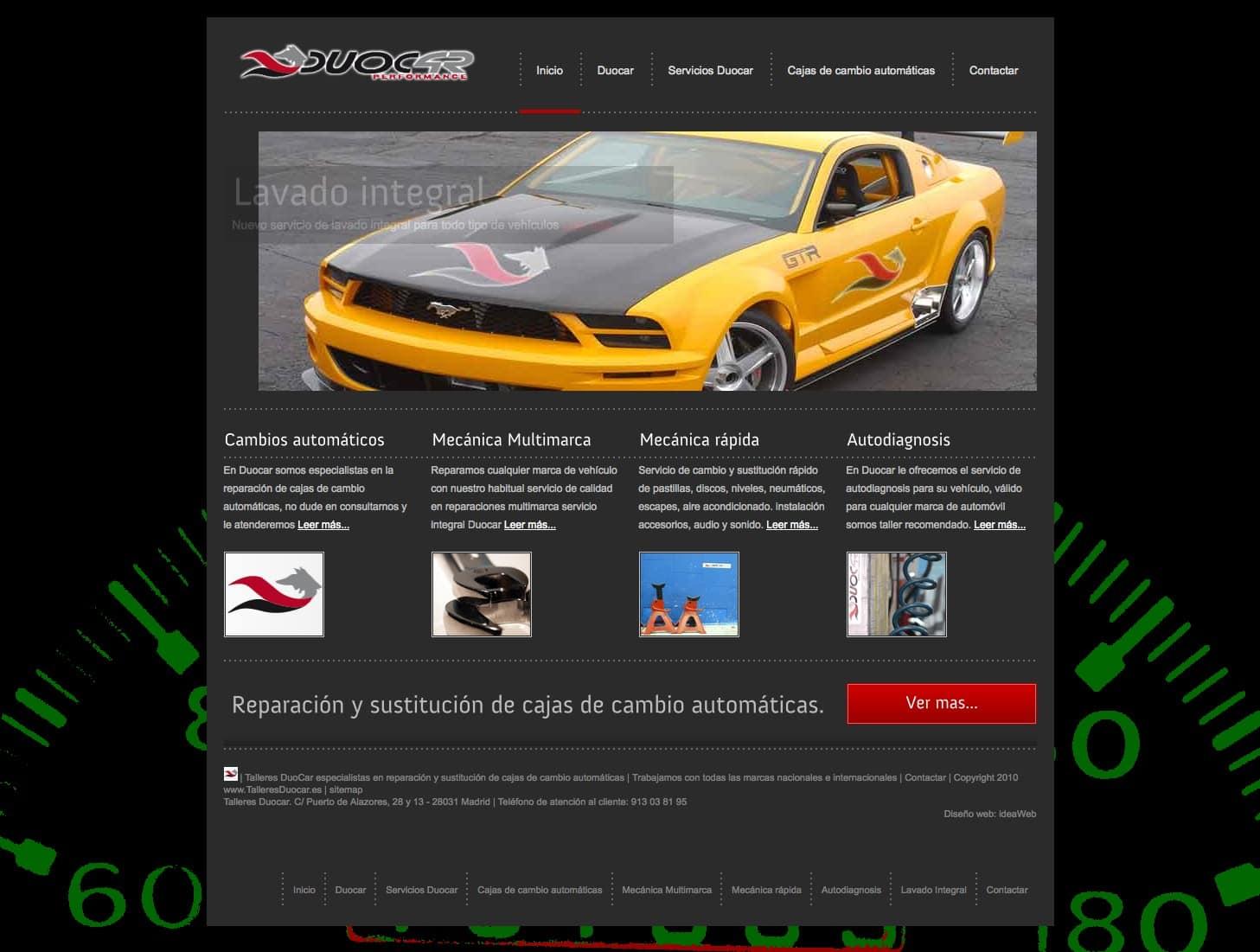 Diseño web para taller del automóvil en Madrid