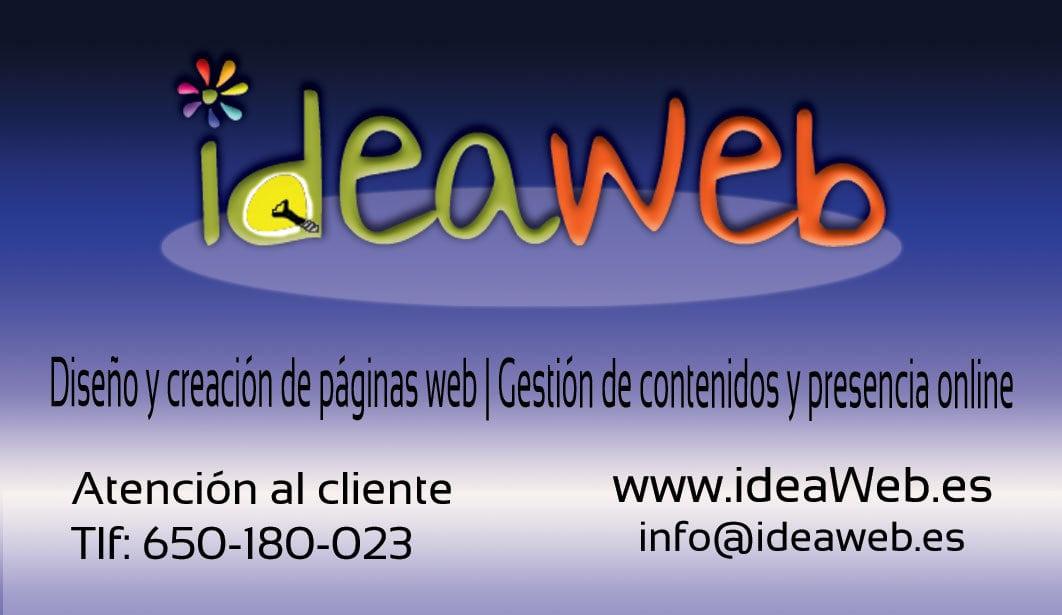 Diseño de nuestras tarjetas de visita propias ideaweb.es
