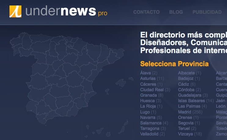 ideaWeb en el directorio de profesionales de España UndernewsPro