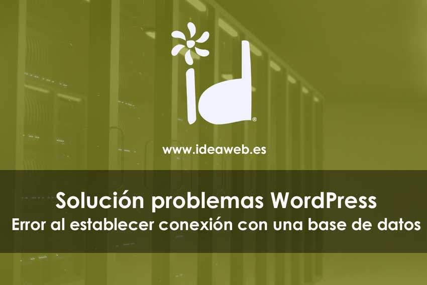 WordPress error Base de datos