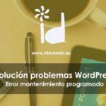 wordpress mantenimiento programado