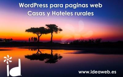 Plantillas y plugins Wordpress para páginas web de casas rurales. Páginas web para turismo rural.