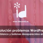 wordpress error texto blanco