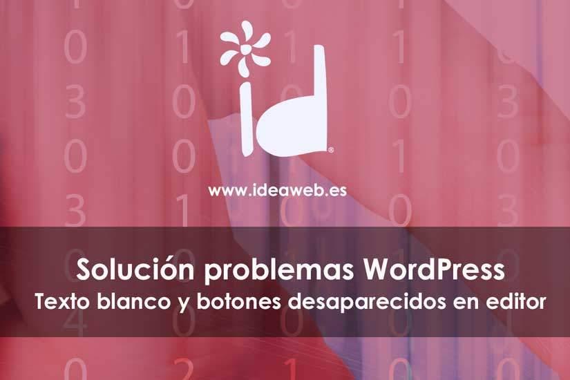 WordPress. Cómo arreglar el texto blanco y los botones que faltan del editor de WordPress