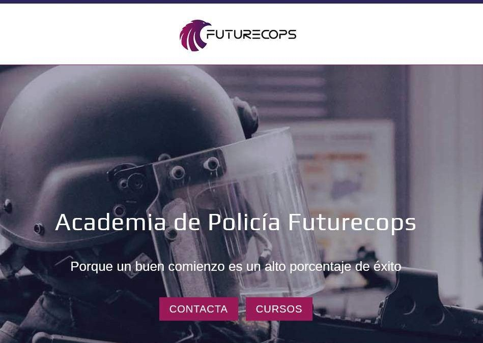 Diseño de página web para academias de oposiciones guardia civil y policía en Madrid