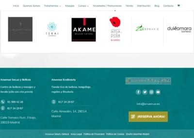 anuenue distribucion marcas tienda web madrid Diseño paginas web