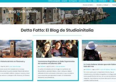 blog estudiainitalia web Diseño paginas web