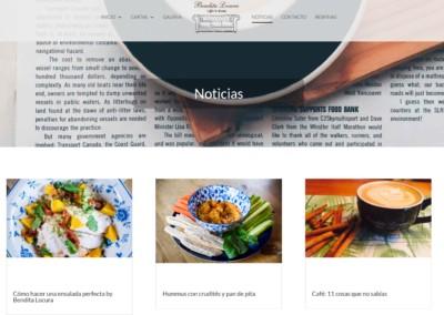 brunch meriendas pagina web Diseño paginas web