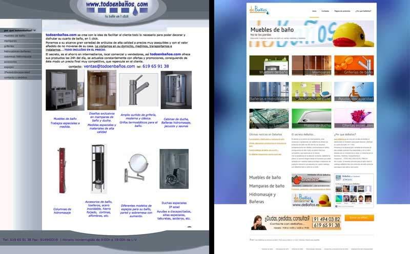 Antes y después: Rediseño de página web para catálogo de artículos