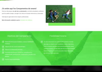 campamentos verano pagina web madrid Diseño paginas web