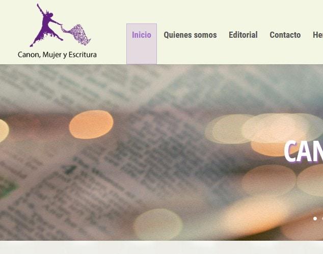 Diseño de página web para página web temática mujer: Canon, Mujer y Escritura