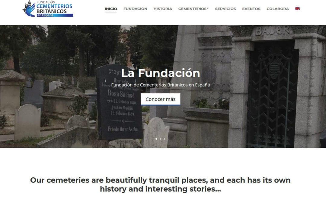 Diseño de página web para fundación británica en España
