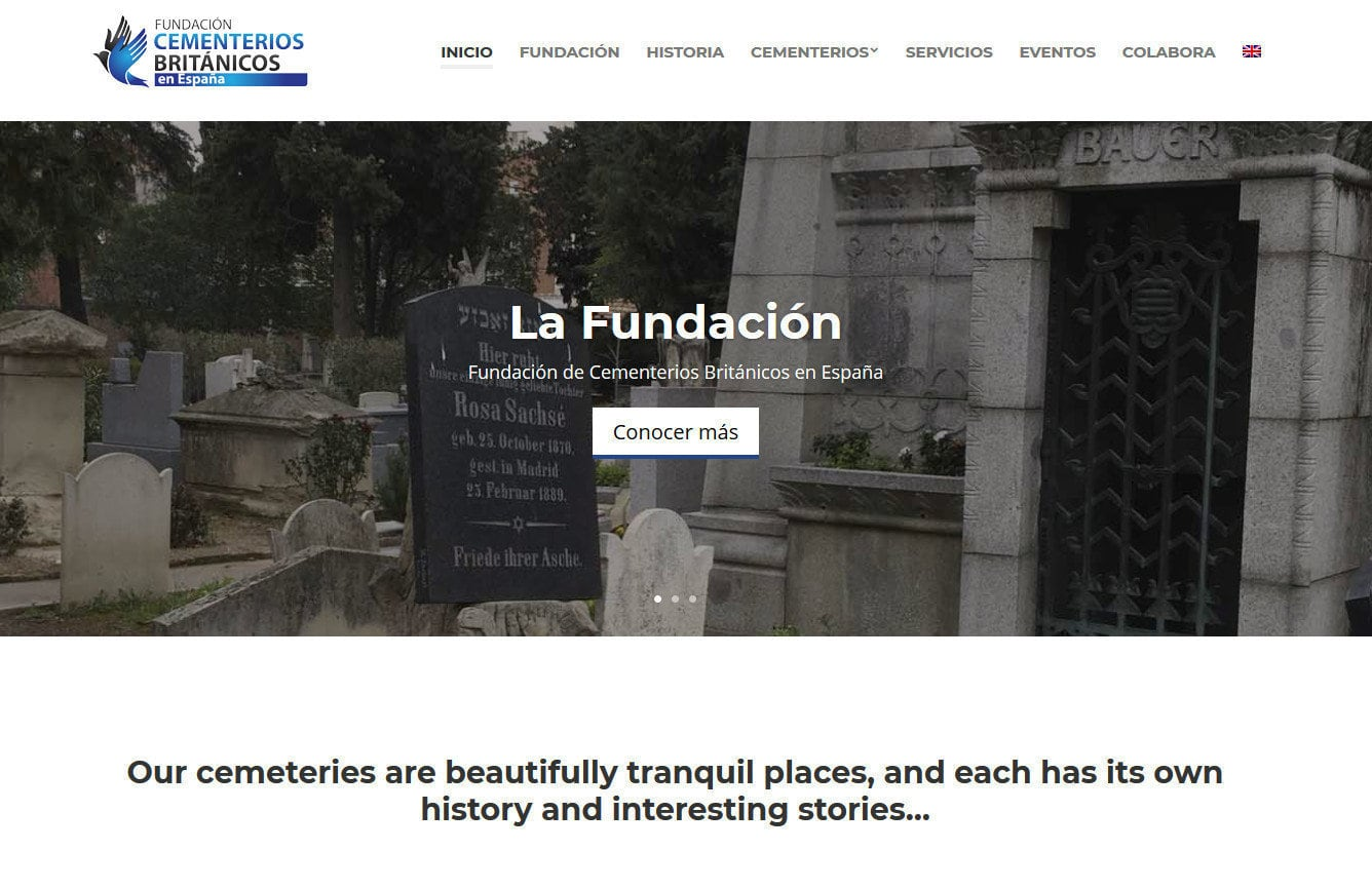 cementerios britanicos disenadores web Diseño paginas web