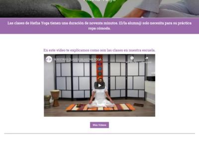 clase hatha yoga diseno pagina web Diseño paginas web