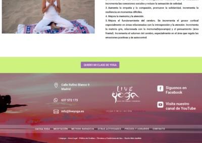 clases yoga pnline web madrid Diseño paginas web