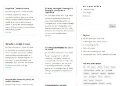 clinica doctor hermoso pagina Diseño paginas web
