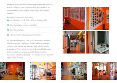 clinica oftalmoligica vallecas villa Diseño paginas web