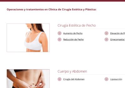 clinica estetica web madrid Diseño paginas web
