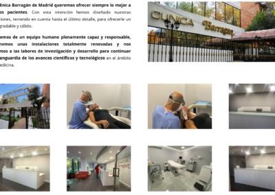 clinica madrid medicina estetica odontologia web Diseño paginas web