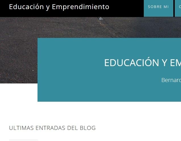 Diseño de página web Blog para empresa de coaching Educación y Emprendimiento