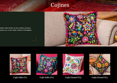 Cojines Artesanos Peru Diseno Web