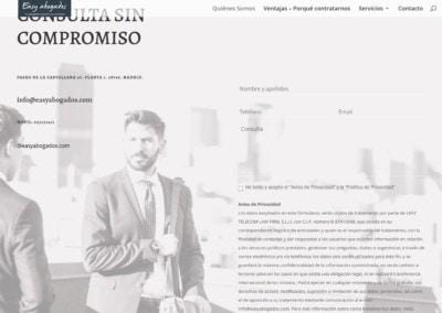 consulta contacto abogados web Diseño paginas web