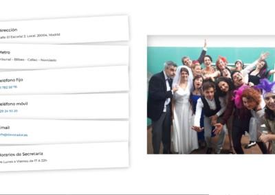 Contacto Escuela Teatro Web Madrid