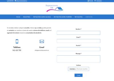 Contacto Repuestos Online Web