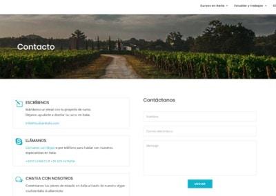 contacto cursos italiano disenadores Diseño paginas web