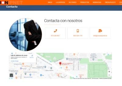 Contacto Empresa Videovigilancia Madrid Web