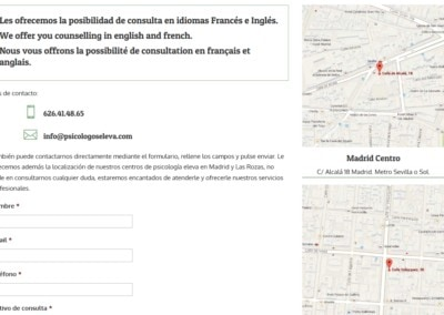 Contacto Madrid Lasrozas Psicologos Web