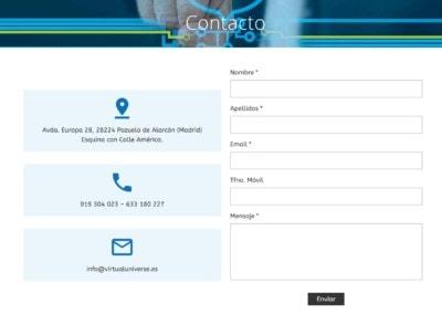 Contacto Virtual Pozuelo Disenadores Web