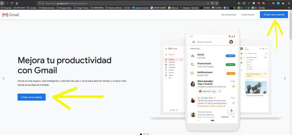 correo 1 Diseño paginas web
