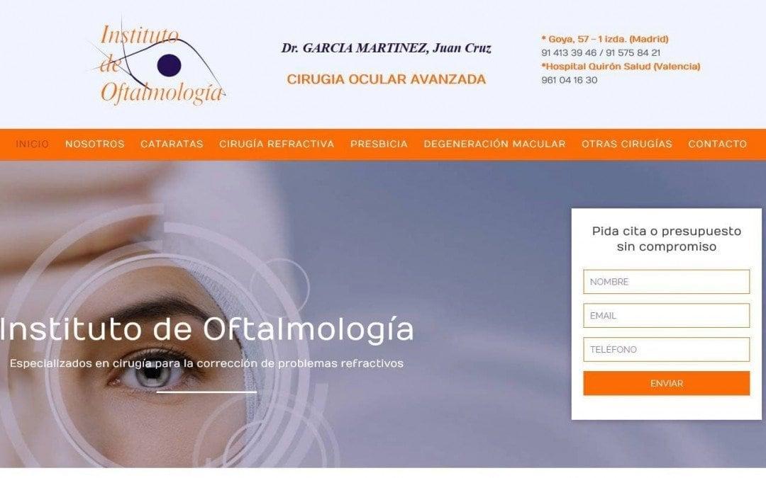Diseño de páginas web para empresa de oftalmología clinica oftalmológica
