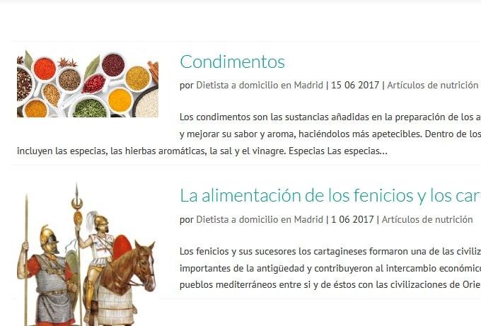 paginas web salud Madrid