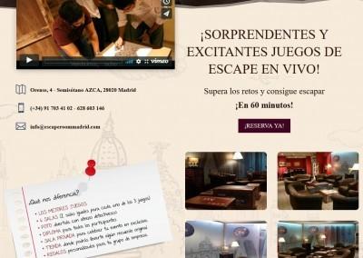 creacion pagina juegos salas Diseño paginas web