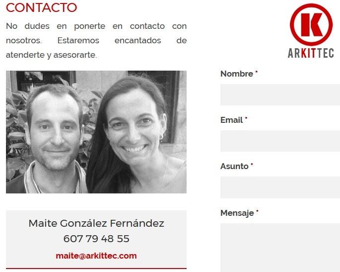 creacion web arquitectos