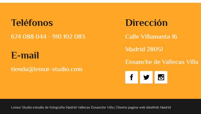 web para fotografo profesional