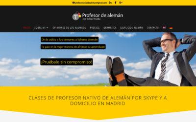 Diseño de página web para profesor de alemán idiomas aprendizaje