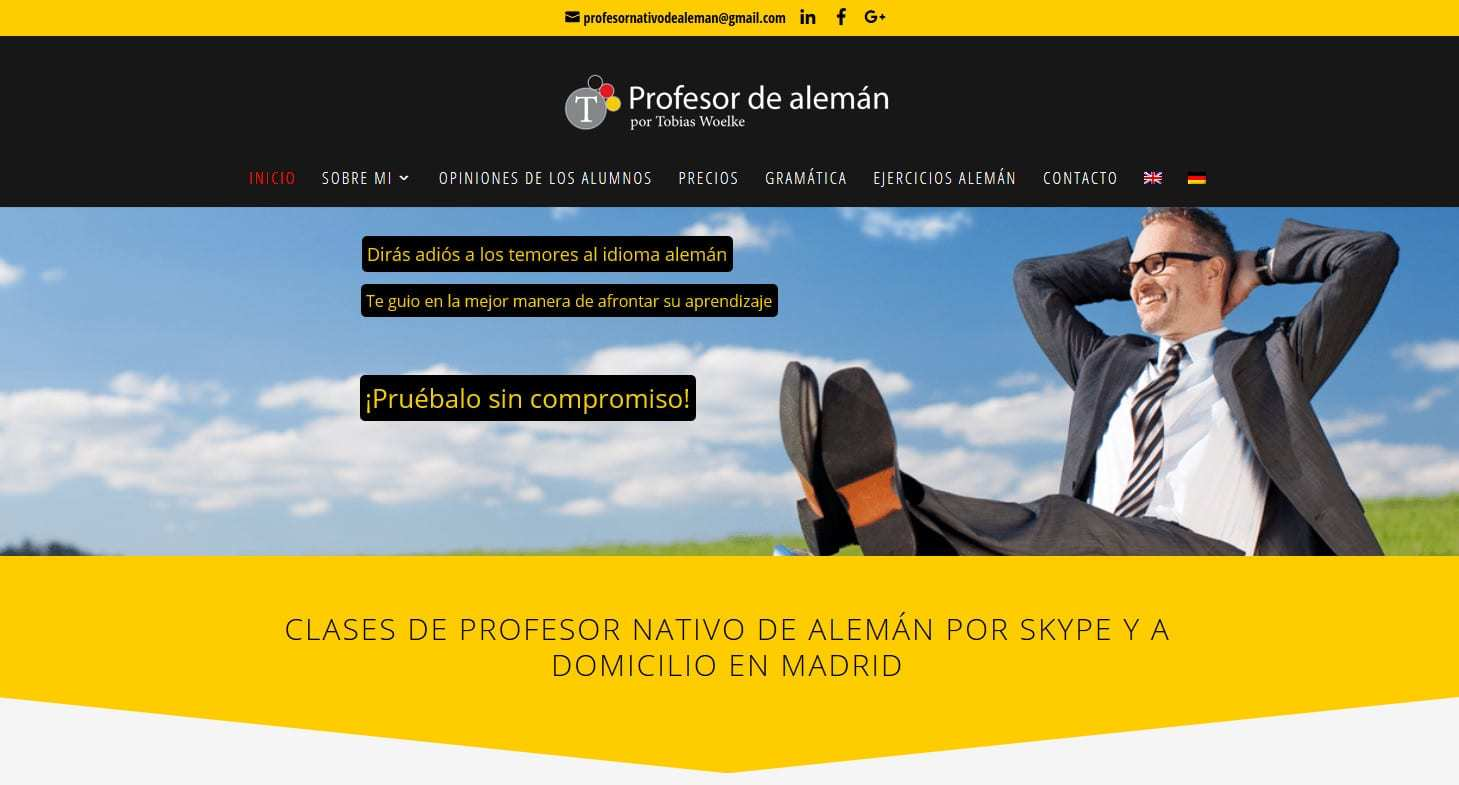 creacion pagina web idiomas