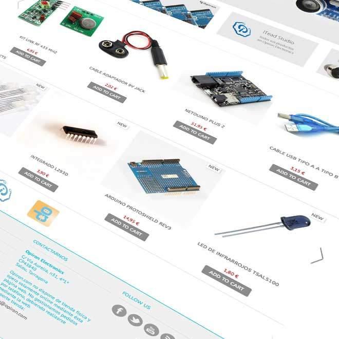 Diseño de tienda online para venta de Open Hardware