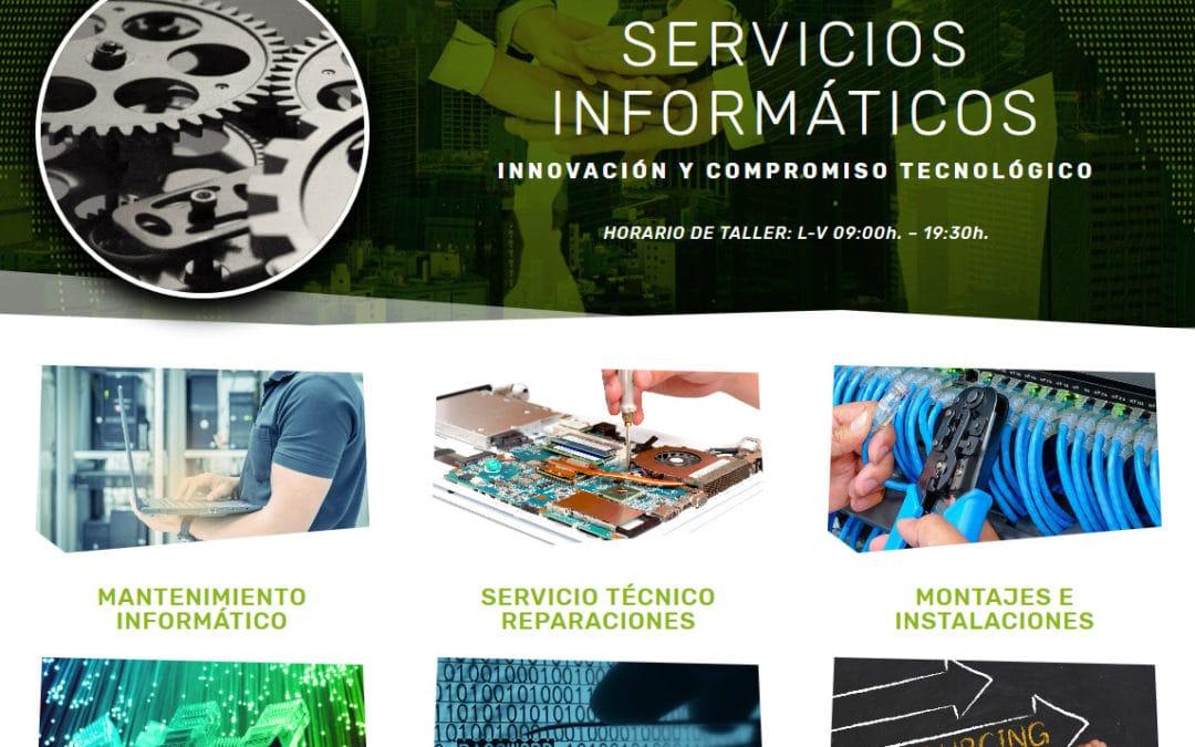 Diseño de página web para empresa de informática mantenimiento reparaciones redes networking