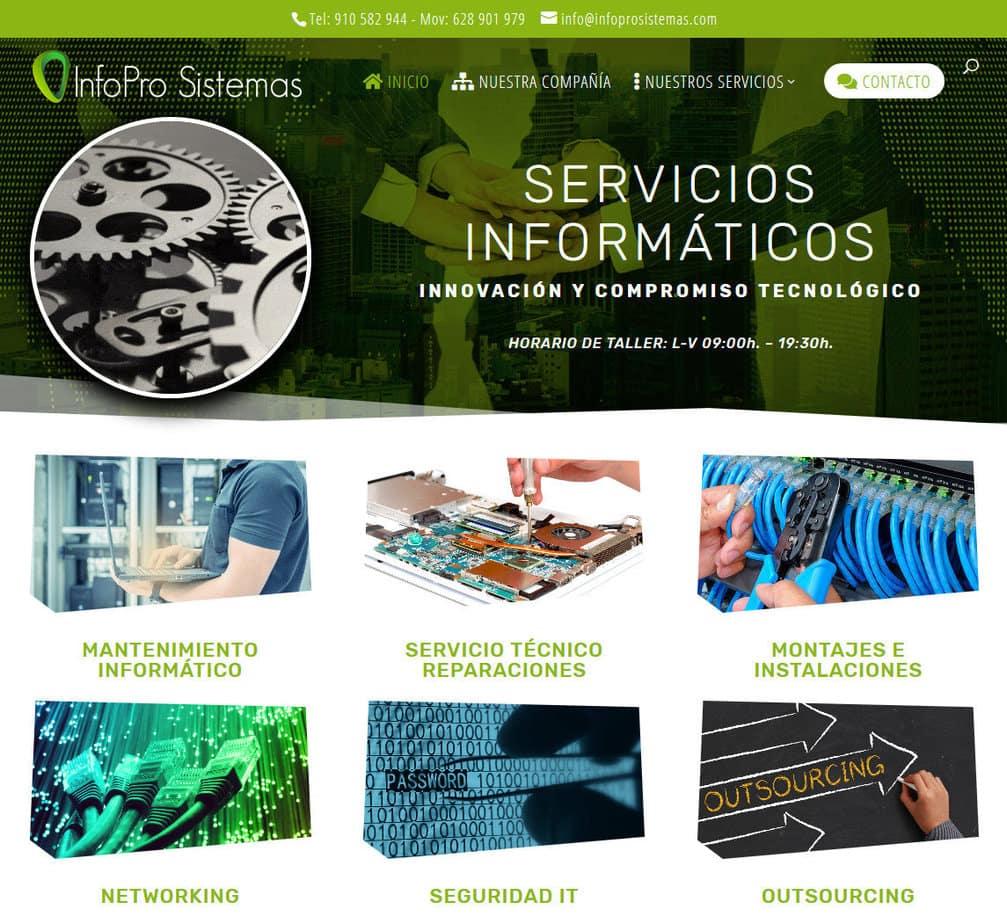 creacion web aplicaciones informaticas Diseño paginas web