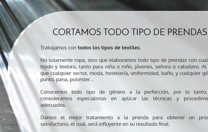 web de empresa textiles