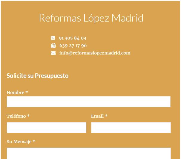 Web Construcción Madrid
